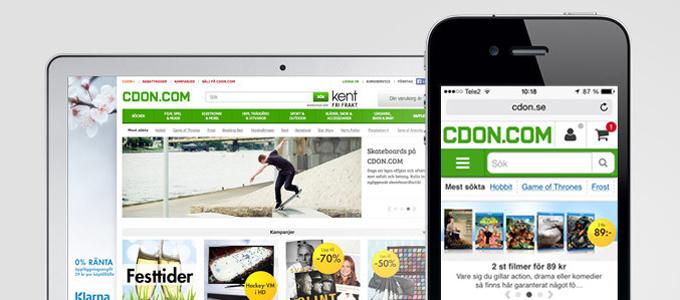 CDON.com har lanserat en ny mobilsajt