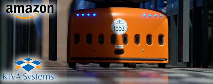 Amazon plockar in tusentals nya lagerrobotar