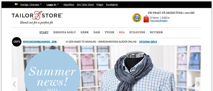 Tailor Store fortsätter sin internationella expansion