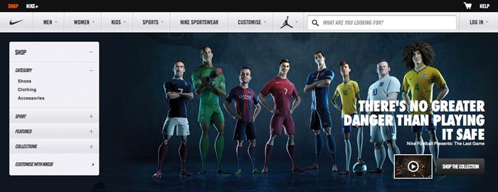 Nikes E-handel växte med 42 procent under 2014