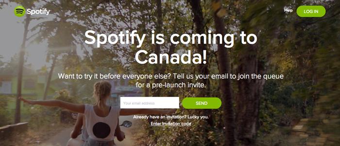 Spotify tar klivet in på den kanadensiska marknaden