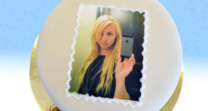 SkickaTårta hakar på Selfie-trenden med fototårta