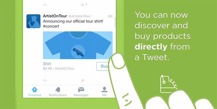 Nu kan man köpa saker direkt i Twitter-flödet
