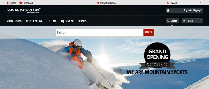 SkiStar lanserar sin nya integrerade E-handel