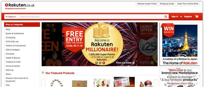 Rakutens E-marknadsplats lanseras i Storbritannien