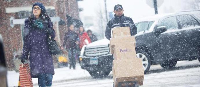 FedEx räknar med nytt rekord när julen nalkas