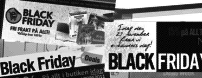 Våra norska grannar rustar för Black Friday