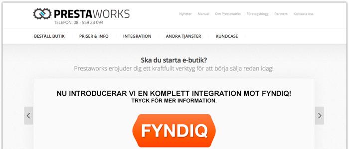 Prestaworks lanserar Prestashopmodul till Fyndiq