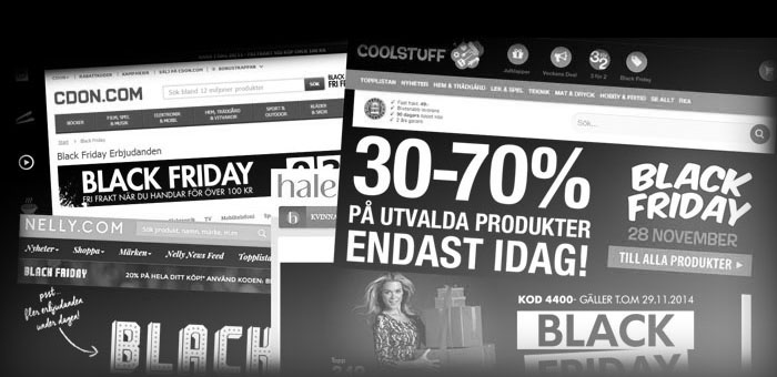 Näthandeln ökade med 50 procent under Black Friday