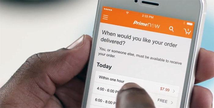 Amazon kör ut varorna inom en timme i New York