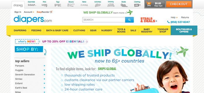 Amazons nätbutik vill sälja blöjor på Alibabas Tmall