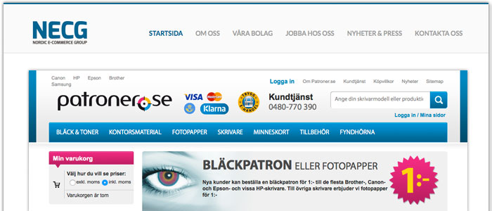 NordicInks ägare köper upp konkurrenten Patroner.se