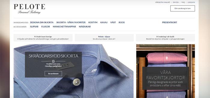 Tailor Store får konkurrens av Pelote och Skjortstudion
