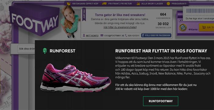 """Footway köper RunForest och gör """"en Heppo"""""""