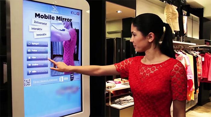 Smart spegel ska förlänga fysiska butiker ut på nätet