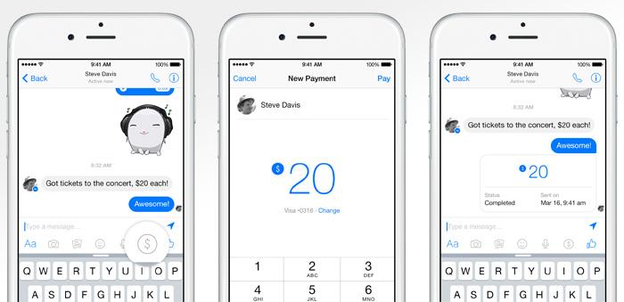 Facebook börjar med betalningar via Messenger