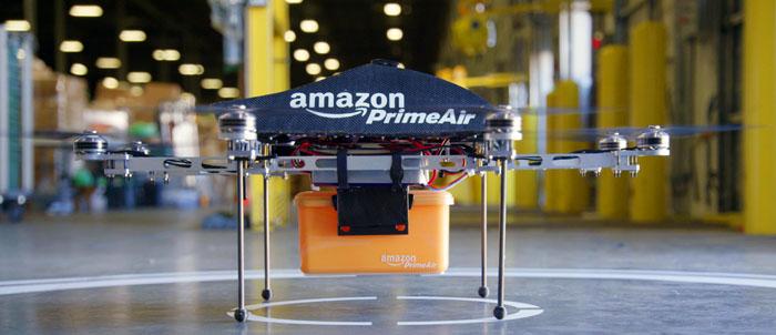 Nu lyfter Amazons flygande drönare i USA