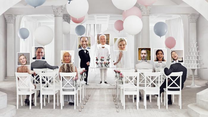 IKEA uppmärksammar sina festtillbehör med nätbröllop