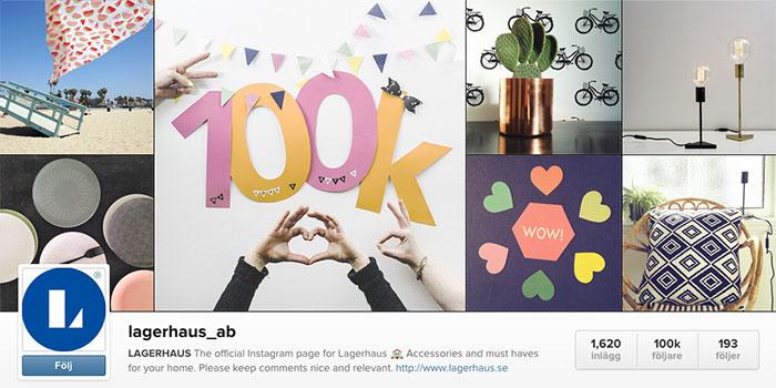 100 000 instagrammare ger Lagerhaus klirr i kassan