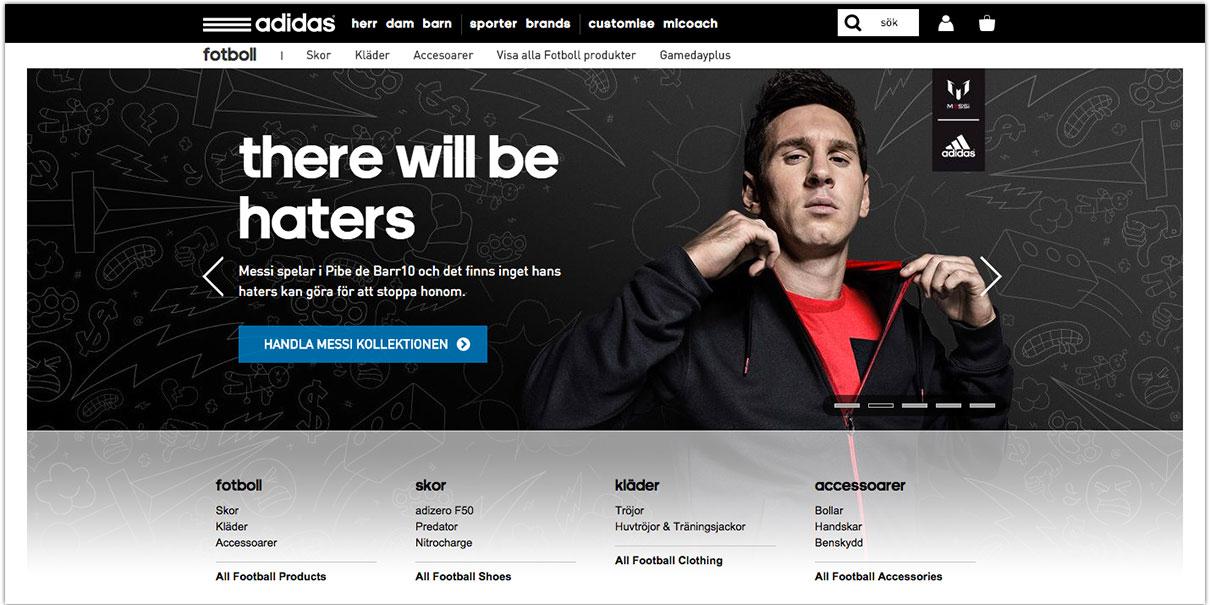 Adidas E-handelsmål är inom räckhåll