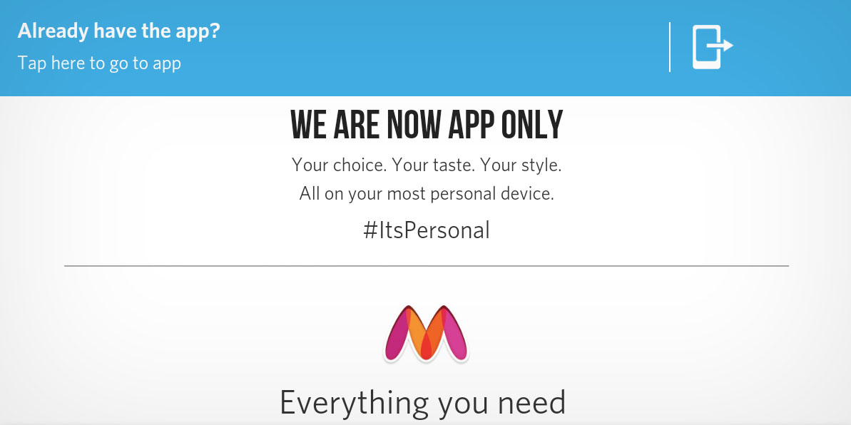 E-handel stänger nätbutik för att endast köra mobilapp