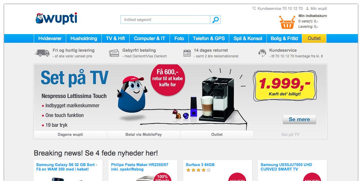 Dansk Supermarked köper upp nätbutiken Wupti.com