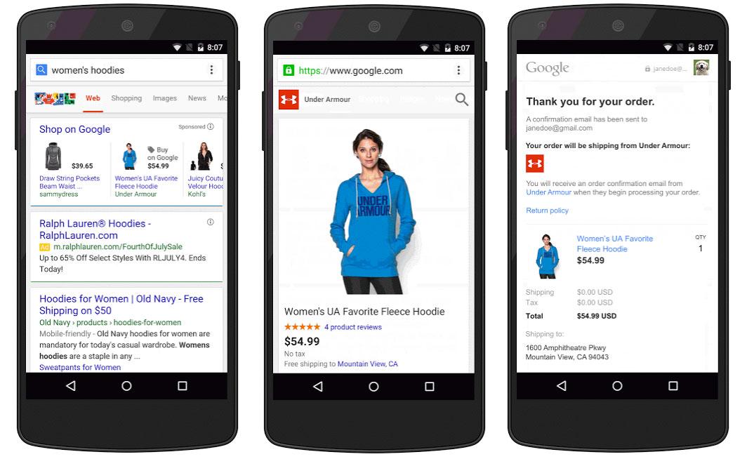 Nu kan man E-handla direkt i Googles sökresultat