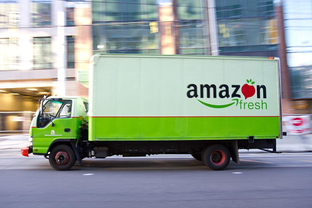 Färskvaror ifrån Amazon på väg till Storbritannien