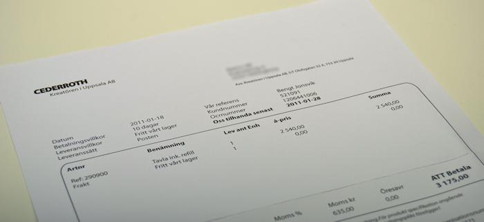 Varning för bluffakturor ifrån Kreatören i Uppsala AB