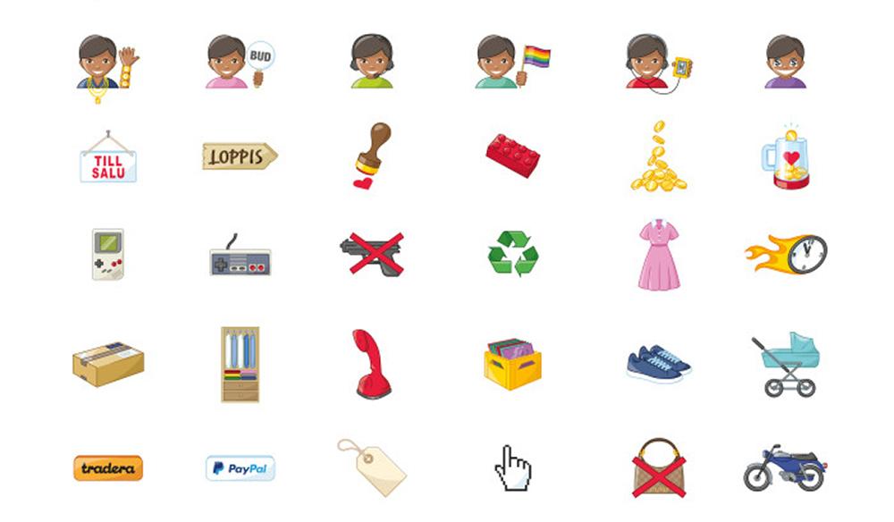 Glöm bokstäverna - säg det med en Tradera-emoji