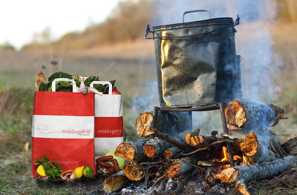 Middagsfrid skickar matkassen till campingen