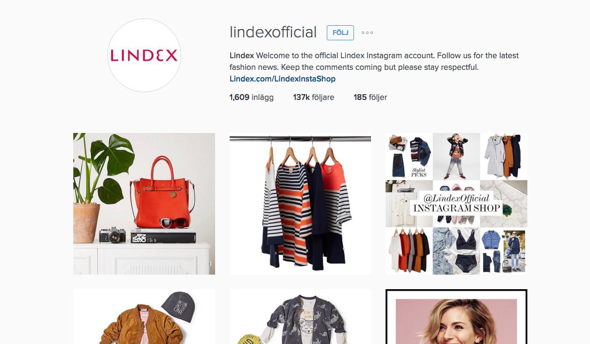 Lindex vill göra det enklare att shoppa via Instagram