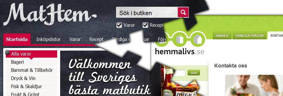 MatHem.se käkar upp Hemmalivs.se