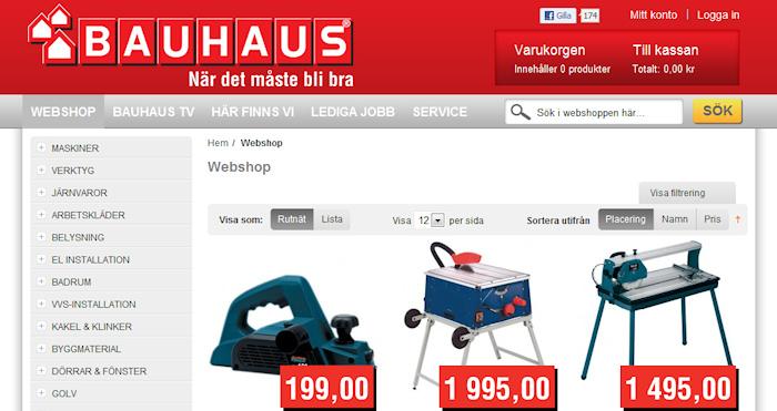 Bauhaus lanserar E-varuhus samtidigt som Byggmax uppdaterar sin E-handel