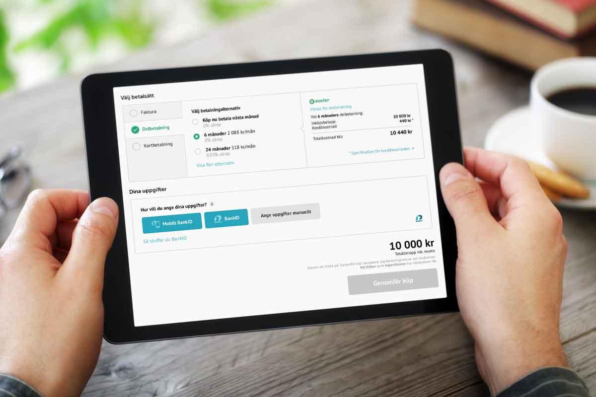 Premiär för Handelsbankens nya nätkassa Ecster Pay
