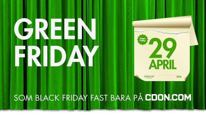 CDON vill ha fler Black Friday och lanserar nu Green Friday