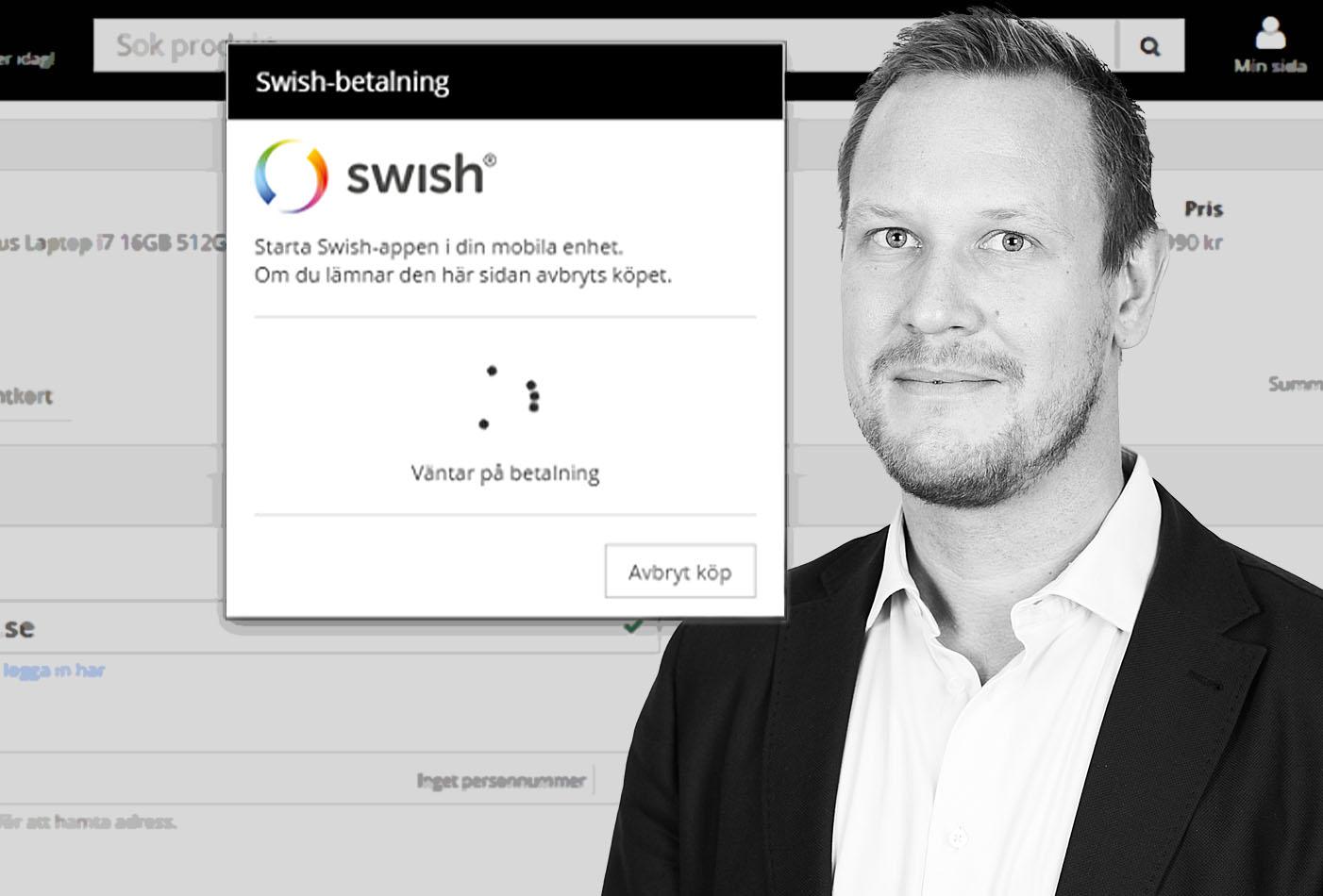Inet: låga beloppsgränser hos Swish kan ge låg snittorder