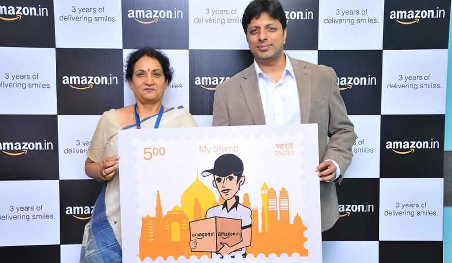 E-handelsjätten Amazon får eget frimärke i Indien