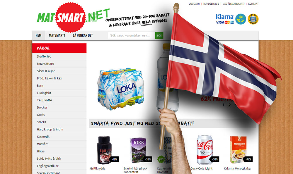 Matsmart lanserar i Norge nästa vecka