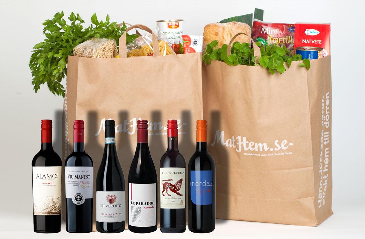 Mathem säljer vin i samarbete med Winefinder
