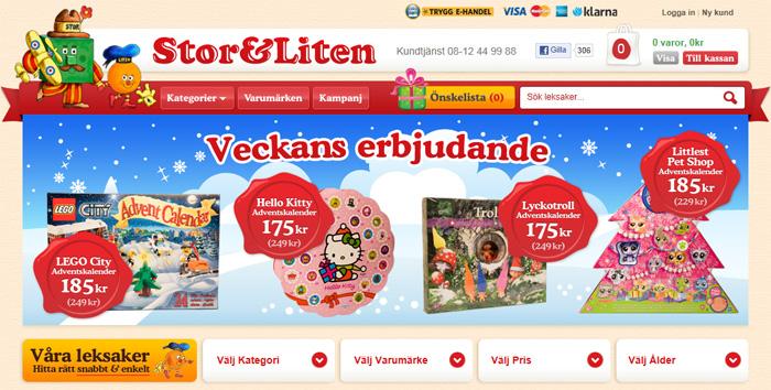 Leksaksbutiken Stor&Liten återuppstår på nätet