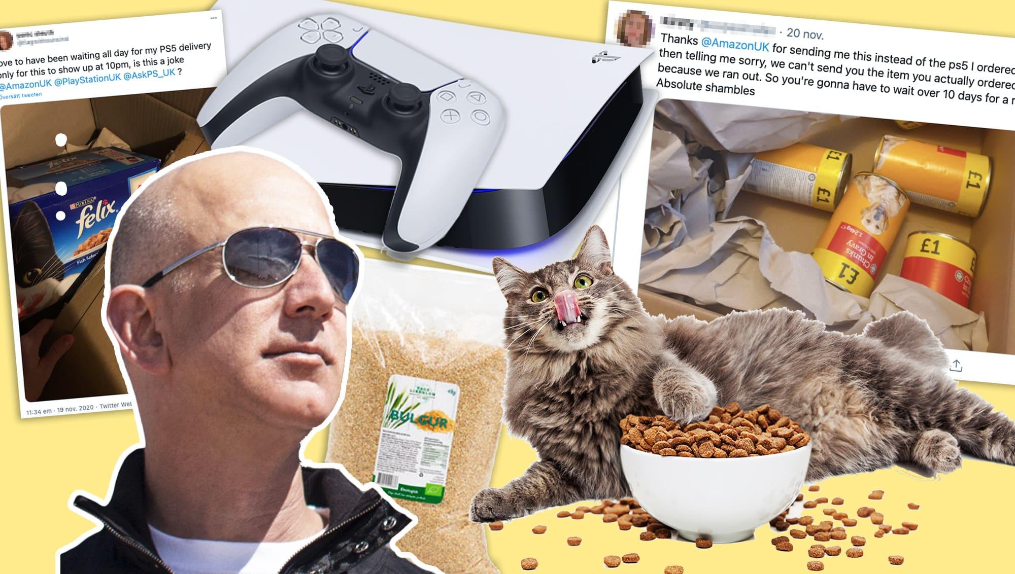 Beställde PlayStation 5 på Amazon – fick kattmat